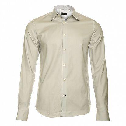 Pánská světle šedá košile s dlouhým rukávem Roberto Verino