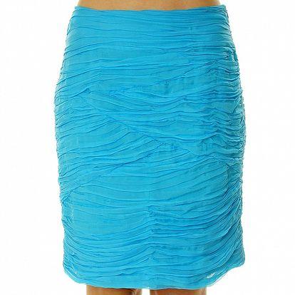 Dámská tyrkysová sukně s kaskádami Roberto Verino