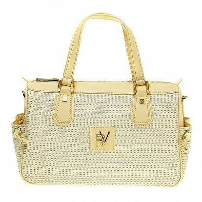 Dámska béžová kabelka s postrannými vreckami Roberto Verino