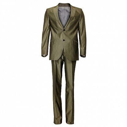 Pánský kovově šedivý oblek Roberto Verino
