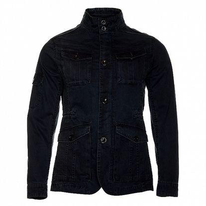 Pánska temne modrá jarná bunda Roberto Verino