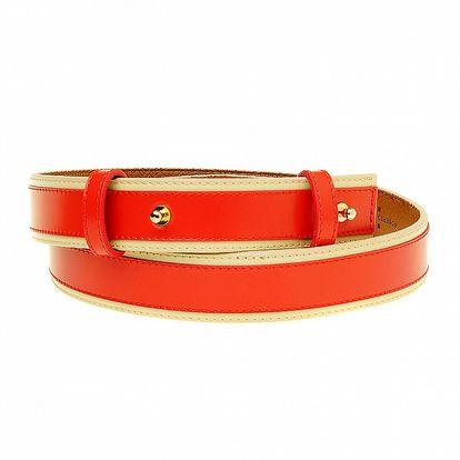 Dámský červený pásek se zlatými cvočky Roberto Verino