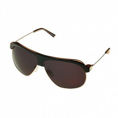 Dámske čierno-zlaté pilotné okuliare Axcent
