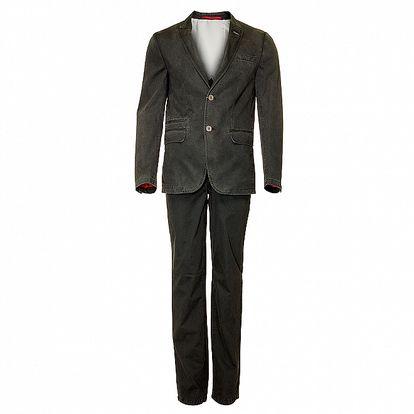 Pánský tmavě šedý oblek Roberto Verino