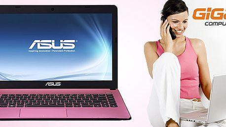 Dizajnový ASUS notebook Pink
