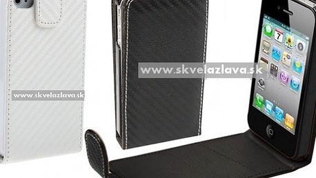 Elegantné výklopné kožené púzdro pre iPhone 4/4S za 5,40 € vrátane poštovného!