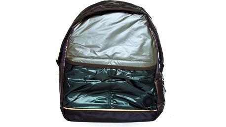 Hnědo-zelený batoh Benetton