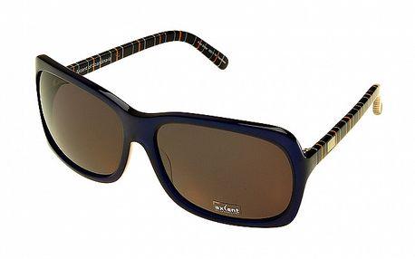 Dámske modré slnečné okuliare Axcent s pruhovanými stranicami