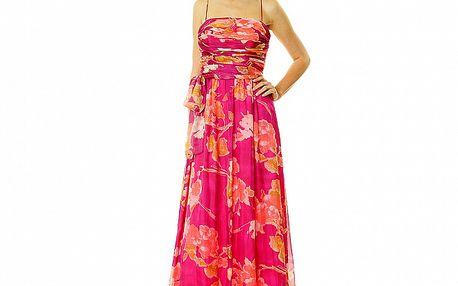 Dámske ružové vzorované šaty v štýle Ashley Judd Roberto Verino