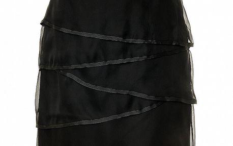 Dámská černá hedvábná sukně s lemováním Roberto Verino