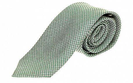 Pánská zelená kravata se vzorkem Roberto Verino