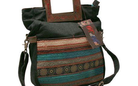 Dámská taška přes rameno Red Hot černá ethno