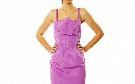Dámske fialkové šaty v štýle Katie Holmes Roberto Verino