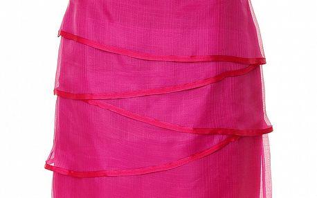Dámska fuchsiová hodvábna sukňa s lemovaním Roberto Verino