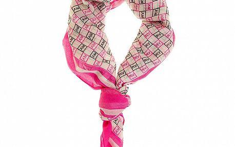 Dámský růžový šátek Roberto Verino