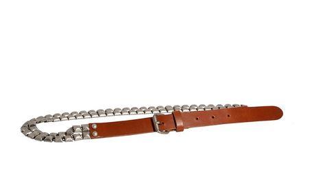Dámský pásek Red Hot camel s řetízkem