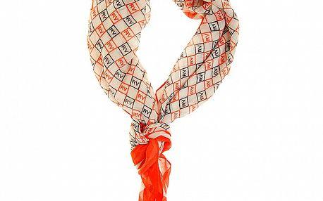 Dámska oranžová šatka Roberto Verino