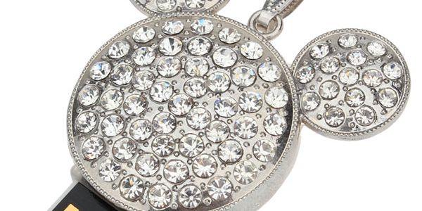 2GB Flashdisk ve tvaru myšáka zdobený třpytivými kameny a poštovné ZDARMA! - 455