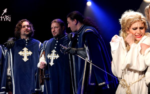 Tři mušketýři v Divadle Broadway
