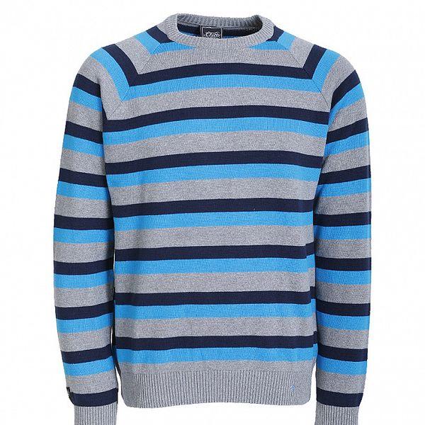 Pánsky modro pruhovaný sveter Chico