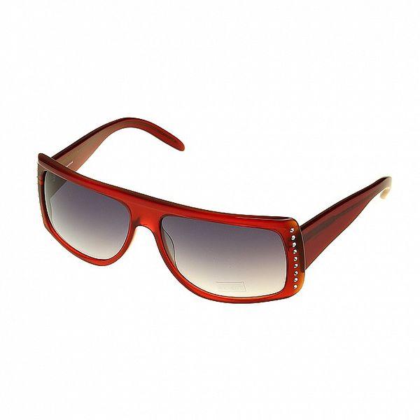 Dámské červené sluneční brýle Axcent s kamínky