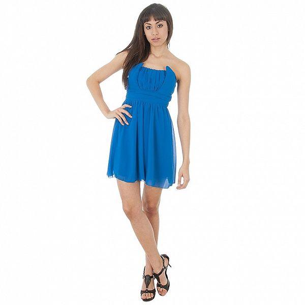 Dámske nádherne modré šaty bez rukávov Paola Pitti