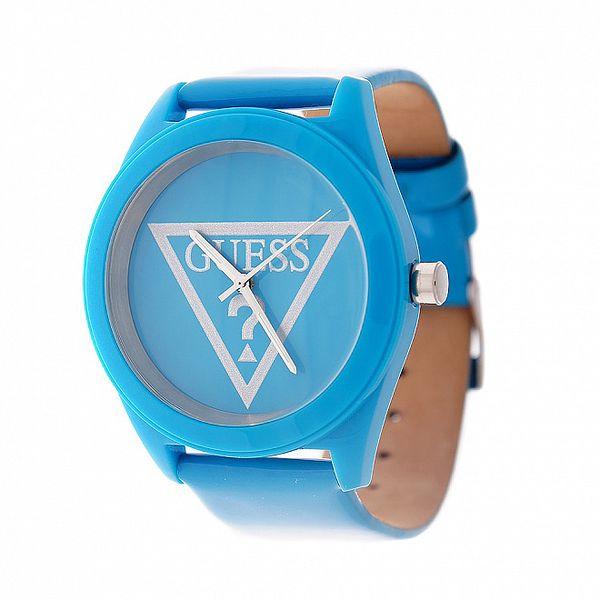 Dámské zářivě modré hodinky Guess