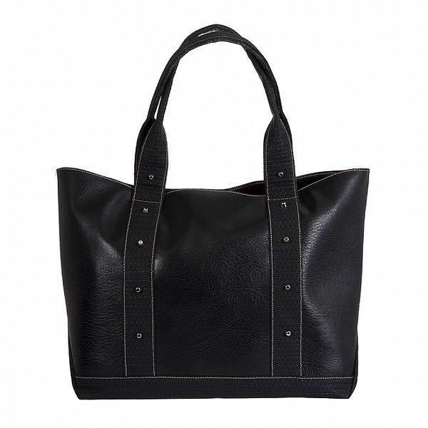 Dámska čierna kabelka s cvočkami Paola Pitti