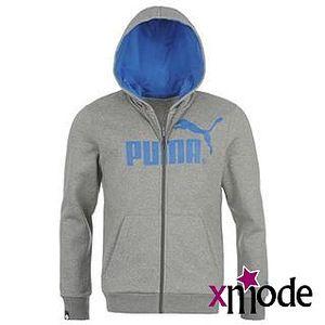 Pánská mikina s kapucí Puma Logo Zipped