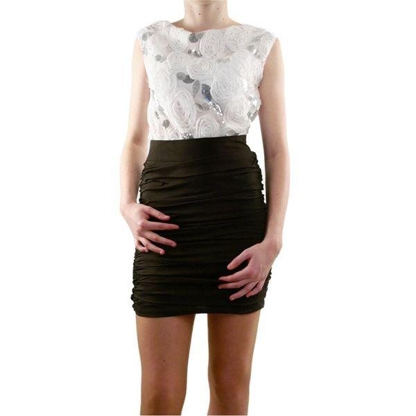 Dámské šaty Lucy Paris bílo-černé