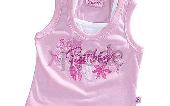 Tílko Barbie dívčí tílko s růžovými květinkami