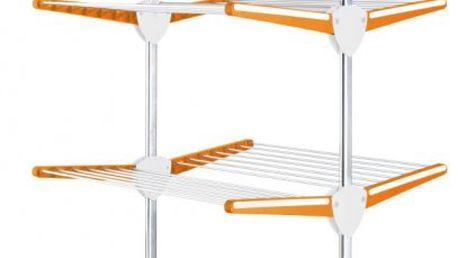 Rozkládací sušák na prádlo Meliconi Stendimeglio Junior, oranžový