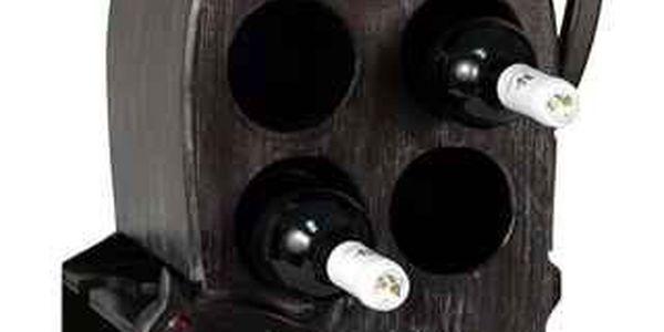 Stojan na víno s motivem kočky. Hezký dárek nebo doplněk do interiéru.