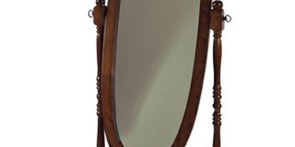 Zrcadlo v dřevěném rámu odstín ořech