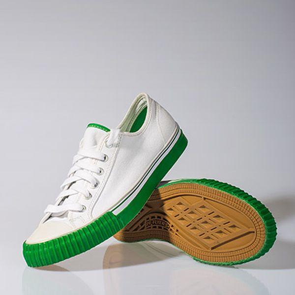 Nízké zeleno-bílé tenisky