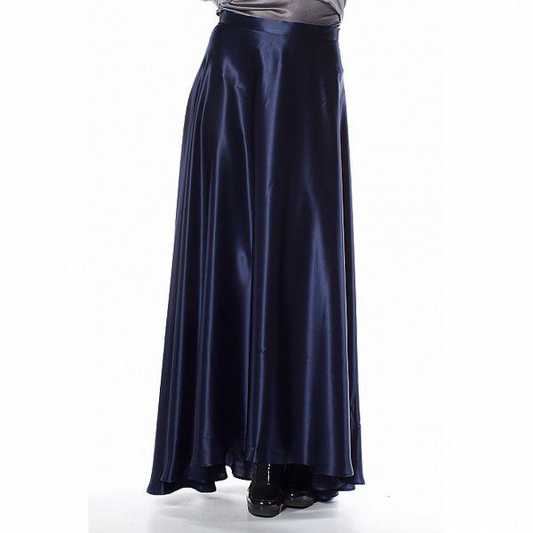 Dámská tmavě modrá hedvábná sukně Gene