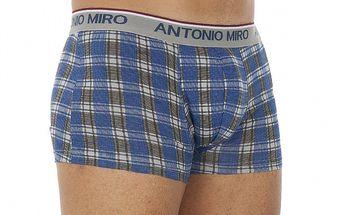 Pánske čierno-modré kockované boxerky Antonio Miro