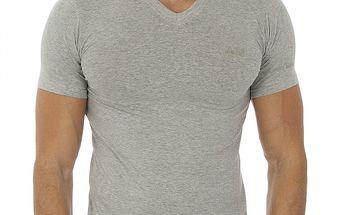 Pánské šedé tričko s krátkým rukávem Antonio Miro