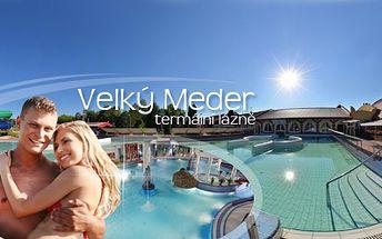 3 DENNÍ ZÁJEZD do TERMÁLNÍCH LÁZNÍ Velký Meder na jihu Slovenska za pouhých 1 990 Kč! Do lázní Vás přiveze AUTOBUS a ubytováni budete v pěkných APARTMÁNECH! Užijte si relax a zábavu v lázeňském prostředí se slevou 50%!