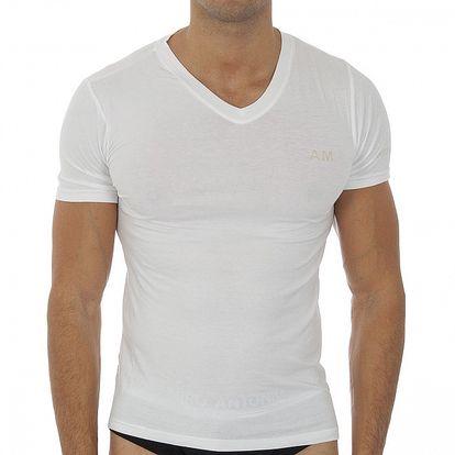 Pánské bílé tričko s krátkým rukávem Antonio Miro