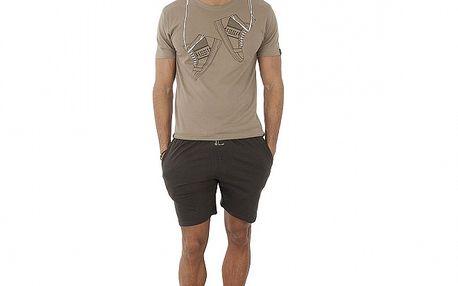 Pánské béžovo-hnědé pyžamo Antonio Miro