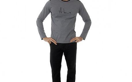 Pánské tmavě šedé pyžamo Antonio Miro