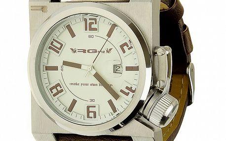 Unisexové retro hnedé analogové hodinky RG512