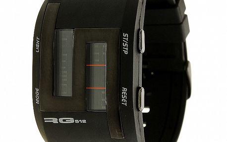Unisexové čierno-strieborné digitálne hodinky RG512