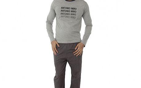 Pánské šedé pyžamo Antonio Miro