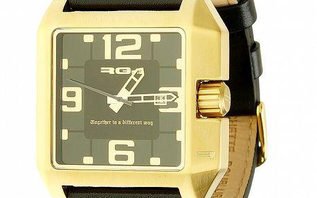Unisexové čierno-zlaté hodinky RG512