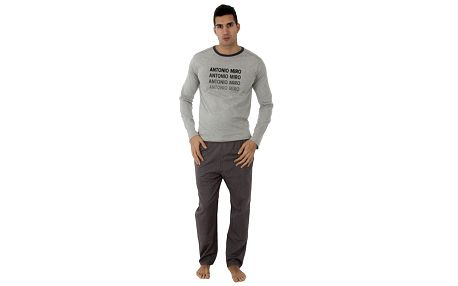 Pánske šedé pyžamo Antonio Miro