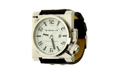 Unisexové retro čierne analogové hodinky RG512