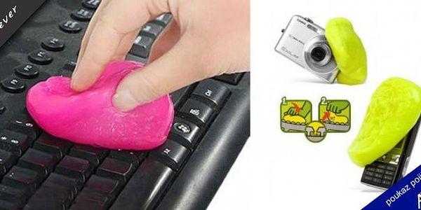 Čistící antibakteriální hmota! Tato hmota krásně vyčistí Vaši klávesnici u PC, mobilu či u TV ovladače, dokonce i digitální fotoaparát !!! Hmota vezme všechnu špínu a zabije veškeré bakterie aniž by přístroji jakkoliv ublížila!