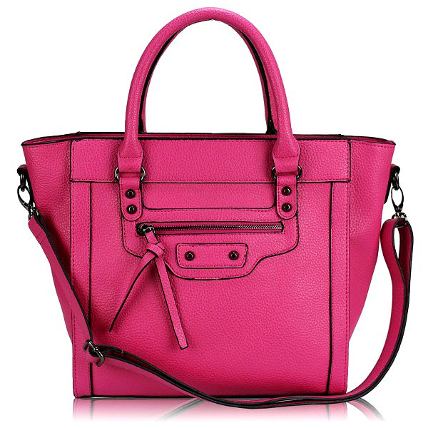 Módní kabelka Tote 142 růžová z umělé kůže.